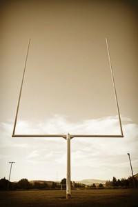 Football Field Goal Posts vintage