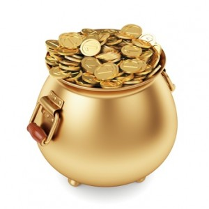 pot of gold coins