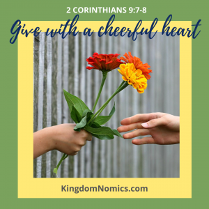 Weave a pattern of giving into your life | KingdomNomics.com