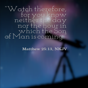 Matthew 25: 13 | KingdomNomics