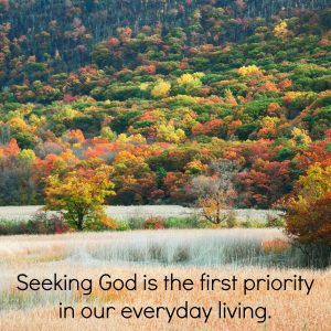 Seeking God is the first priority in our everyday living | KingdomNomics