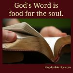 God's Word is Food for the Soul