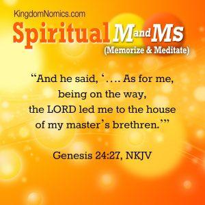 Genesis 24:27 | KingdomNomics.com