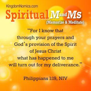 Philippians 1:19 | KingdomNomics.com