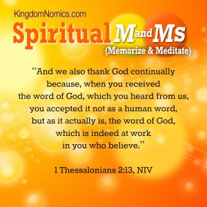 God's Word Works | KingdomNomics.com