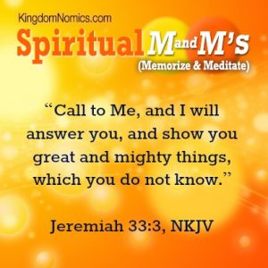 Call on God and He Will Answer | KingdomNomics.com