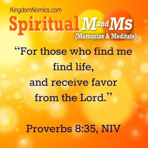 God's Favor is Life! | KingdomNomics.com