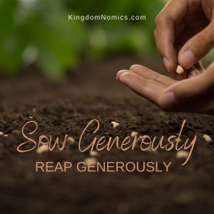 The Sowing and Reaping Principle   KingdomNomics.com